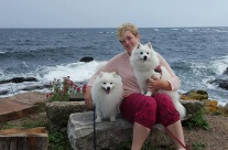 With the dogs at Bornholm