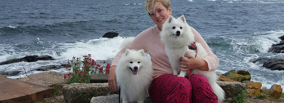 Hiro, jag & Lilly på Bornholm